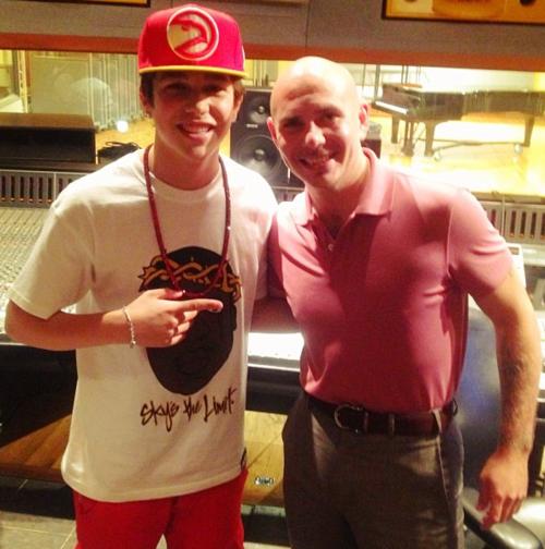 Austin & Pitbull en studio