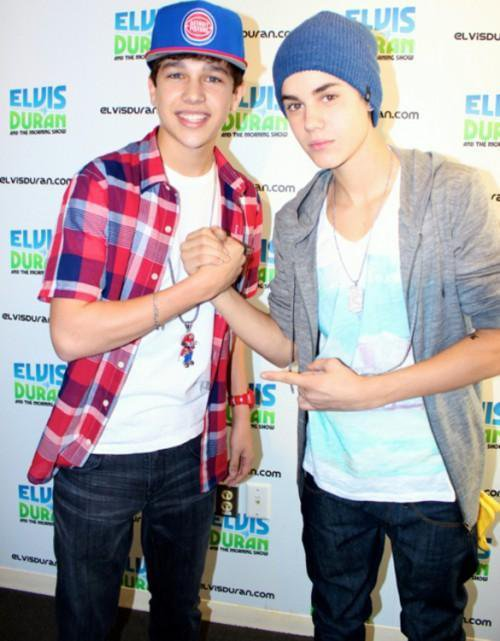 Austin Mahone & Justin Bieber *-*