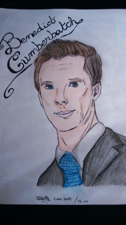 Dessin de Benedict Cumberbatch