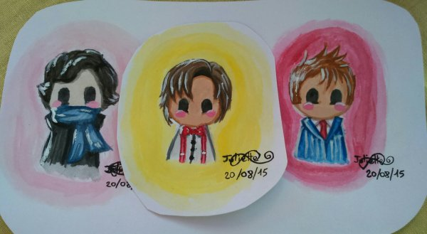 10th/11th Doctor et Sherlock Chibi