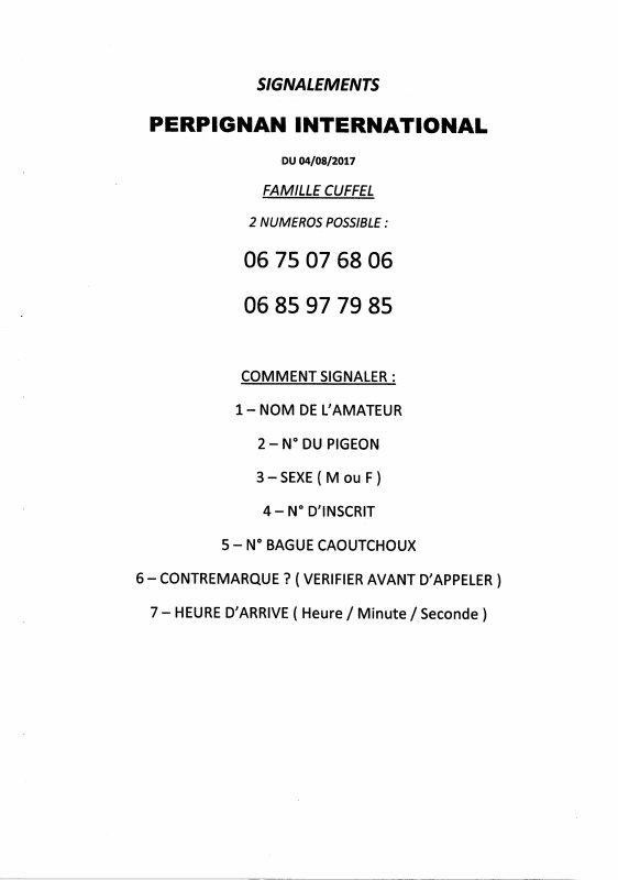 SIGNALEMENTS PERPIGNAN INTER - LACHE A 7 H 00