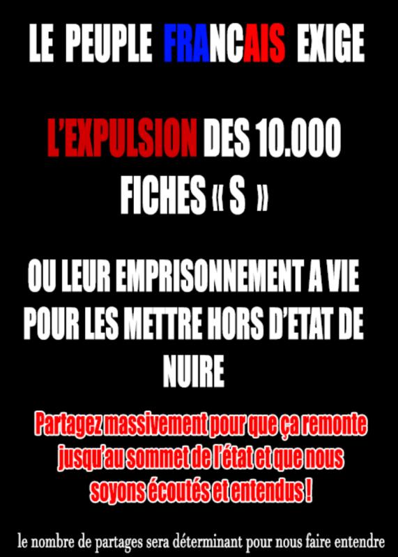 Message du peuple Français en colère à partager massivement!