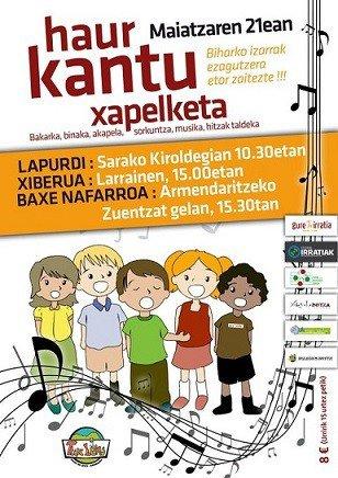 Le kantu xapelketa des enfants (mon Pays Basque je t'aime)