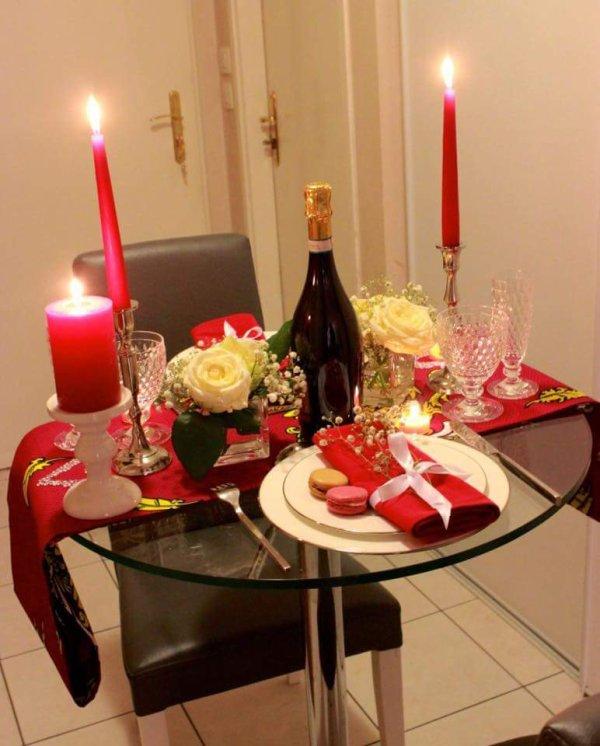 Repas de fête pour un tête à tête en amoureux