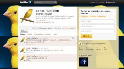 Canari-tunisien sur Twitter