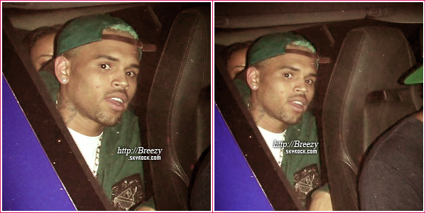 * 20 Septembre : Breezy quittant le Roxbury Nightclub à Hollywood. - Top ou flop? On peut voir qu'il a retrouvé sa couleur brune, content(e)s? *