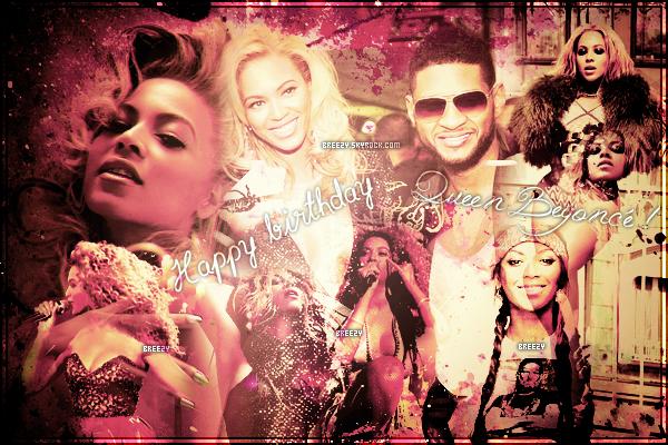 * Article hors-sujet : Happy Birthday Beyoncé ! Une femme incroyable, une voix vraiment magnifique, une danseuse talentueuse, une personne généreuse qui performe comme personne. C'est elle, Queen Beyoncé! *