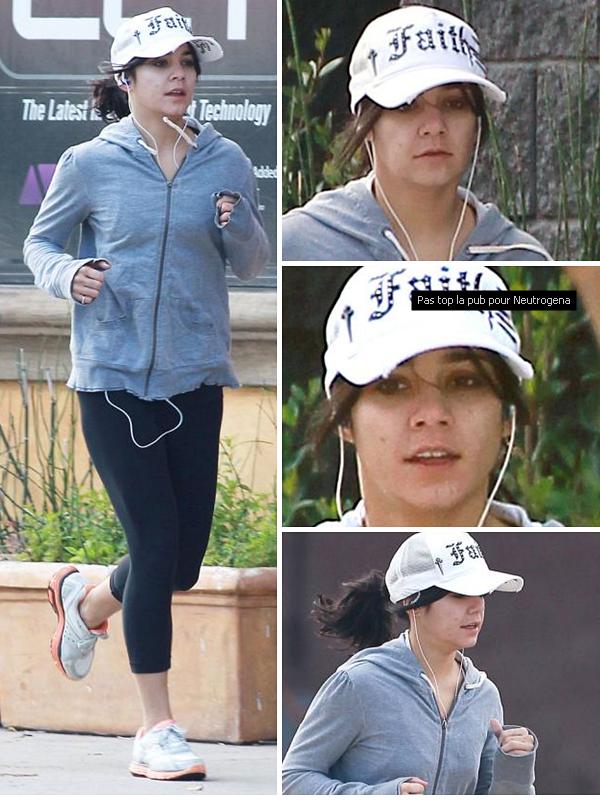 _ Apparence_ 23.02.11 - Vanessa fesant son footing à L.A sans se soucier des paparazzis qui la prenne au sumum de son naturel, chapeau._ Mon avis tenue ₪ OUT