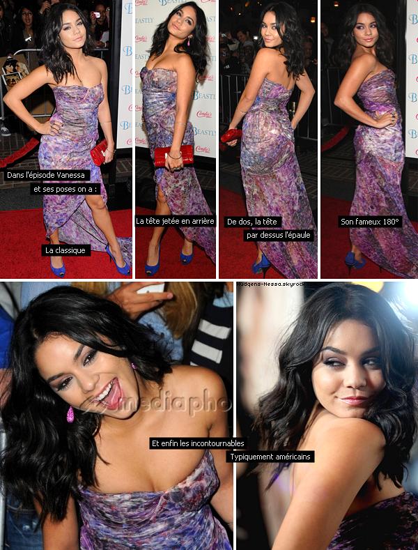 _ Apparence_ 24.02.11 - Vanessa à l'avant première de Beastly à L.A paradant tel un paon._ Mon avis tenue ₪ TOP
