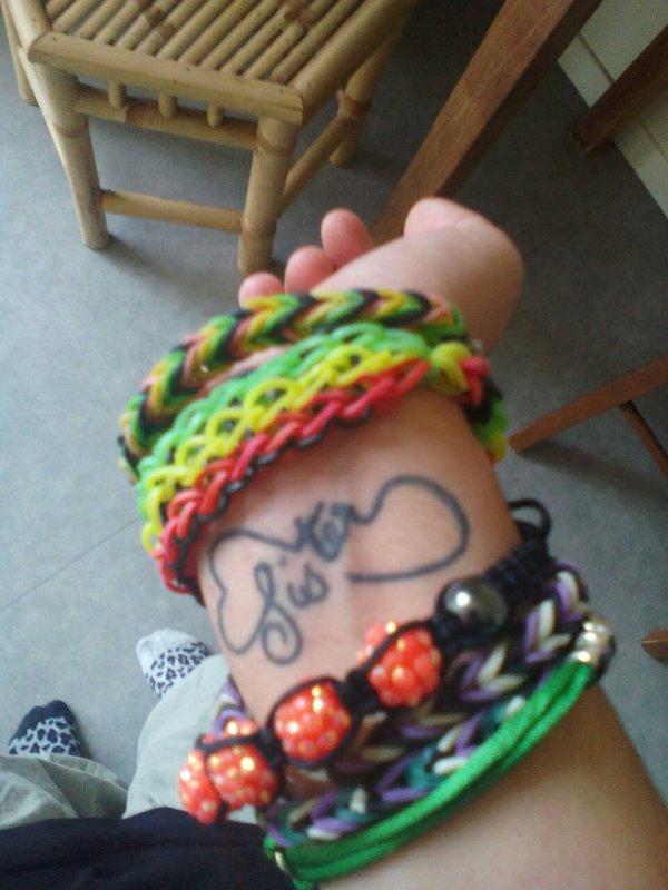 Mon troisième tatoo entre moi et ma s½ur Jessica