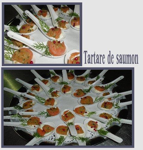 Pour bien commencer !  Un tartare de saumon pour vos vins d'honneurs ou cocktails.