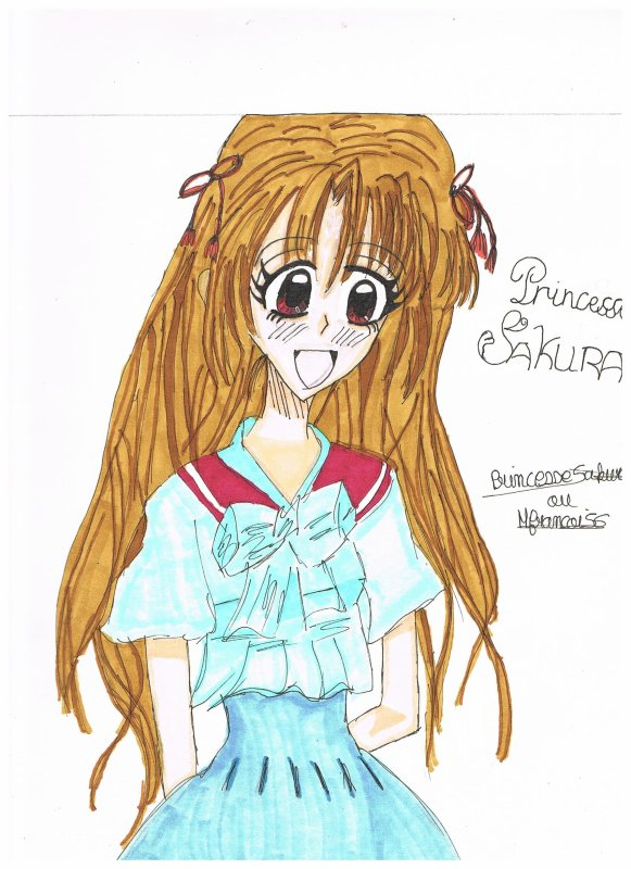 Dessin pour le concour de princesseSakuraxsakura ^^