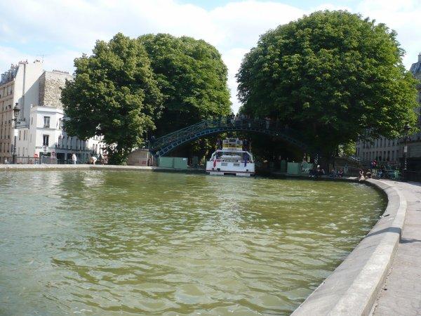 Un tronçon du canal Saint Martin