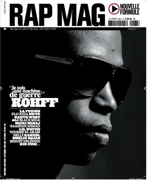 Rohff en couverture de Rap Mag