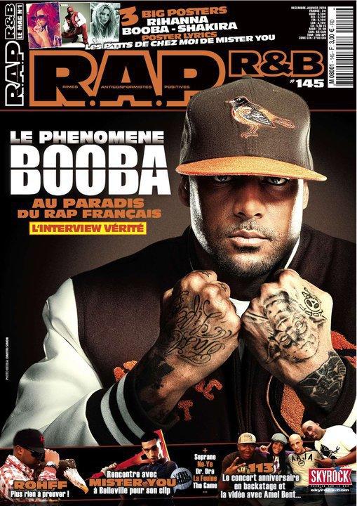 Booba en couverture du prochain R.A.P R&B