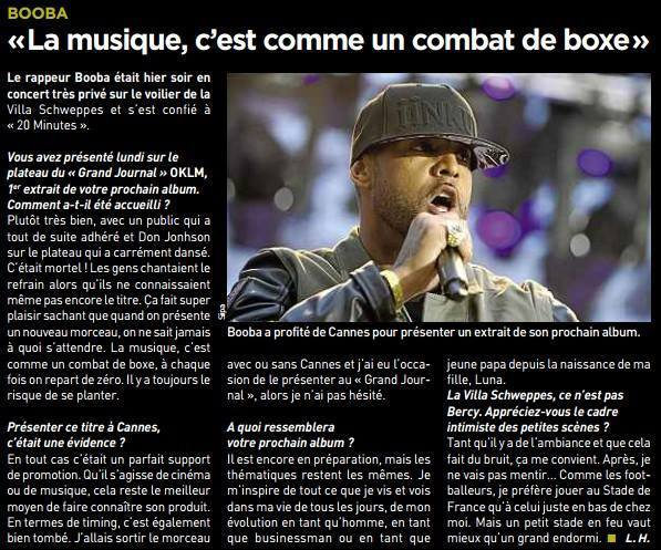Booba - Interview pour 20 Minutes