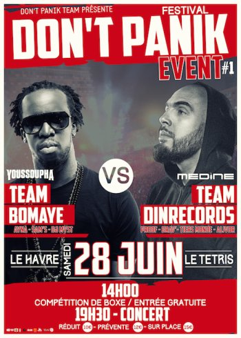 Don't Panik Event : Youssoupha vs Médine !