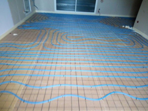 Suite de mon chantier de maison neuve le plancher chauffant