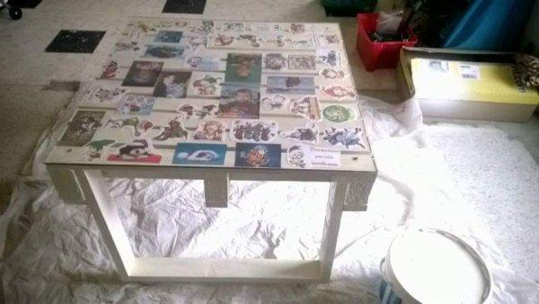 Table basse faite main avec Palette et plexiglas