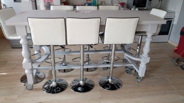 Et voilà avec les chaises hautes ce que ça donne