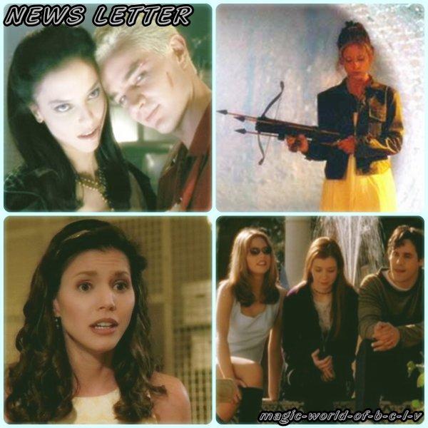 Bienvenue sur magic-world-of-b-c-l-v, le blog consacré a ma série préféré Buffy contre les vampires, pour l'instant vous êtes sur la NEWSLETTER: