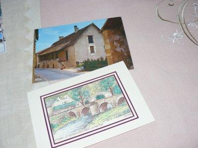 jolies cartes de chouchoute  et de jacquline  couture 208 il y a un saint germain   dans le périgord