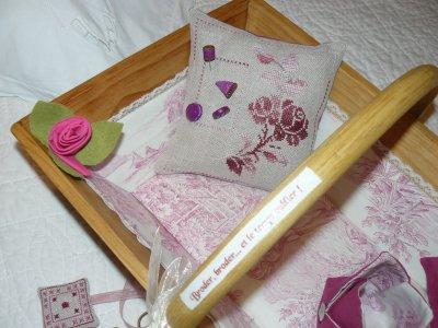 panier de brodeuse aux roses
