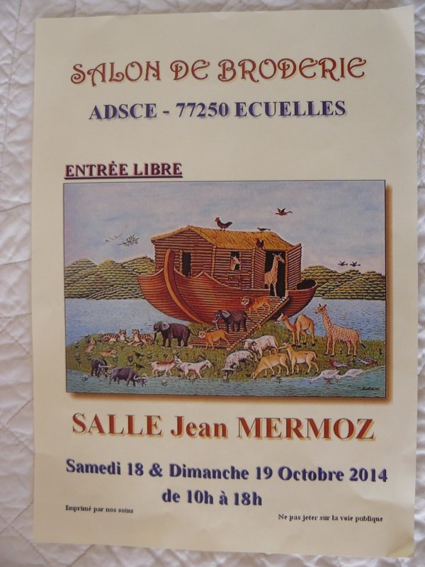 salon sur la broderie main