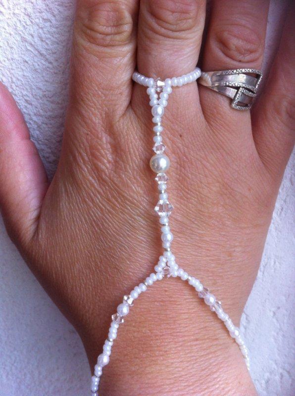 Bagues bracelet perler et Swarovski