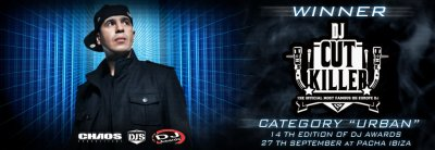 "Dj Cut Killer remporte le ""DJ AWARDS Edition 2011"" dans la catégorie ""URBAN""!!!"