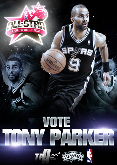 NBA All Star Game 2013 : Votez TONY PARKER