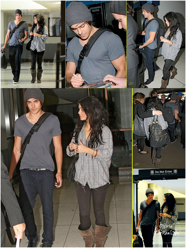 © Official-TheRealLife™  30/01/09  ※  Vanessa & Zac à l'aéroport Brésilien direction Los Angeles.  _