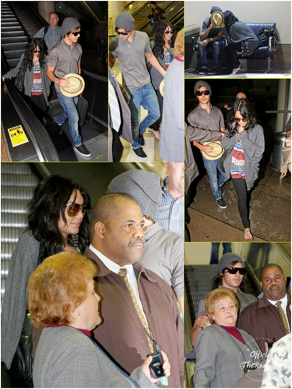 © Official-TheRealLife™  09/02/09  ※  Vanessa & Zac arrivant à L.A.X Airport de Los Angeles.  _