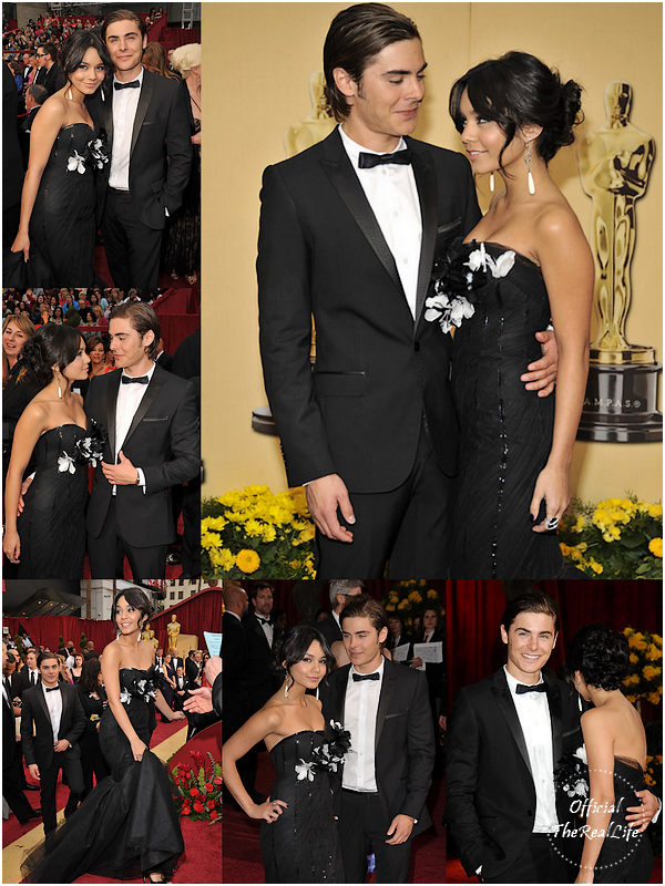 © Official-TheRealLife™  22/02/09  ※  Vanessa & Zac à la cérémonie des Oscars à Los Angeles.  _