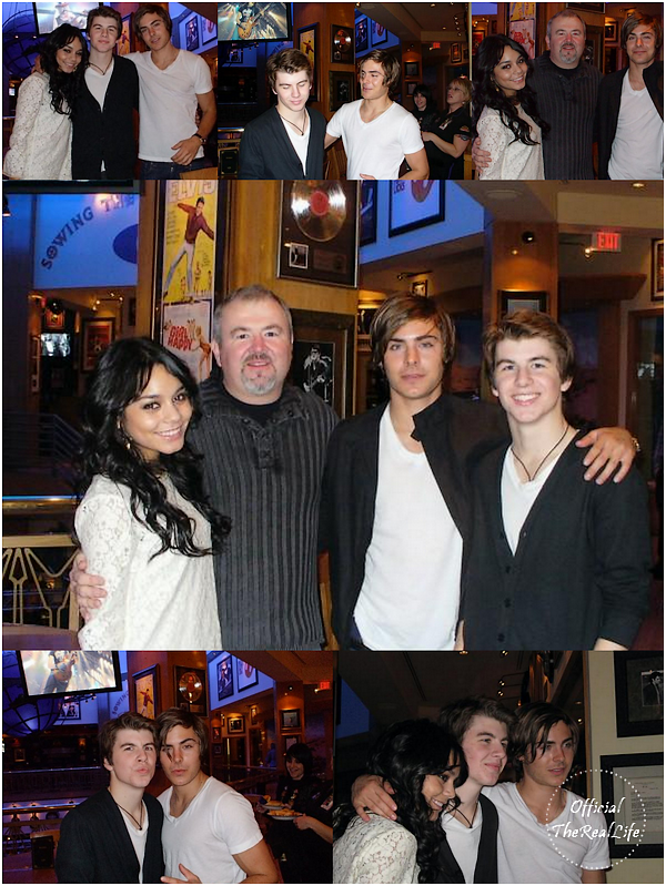 © Official-TheRealLife™  20/02/09  ※  Vanessa & Zac à l'anniversaire de Buddha Lewis au Hard Rock Café de Los Angeles.  _