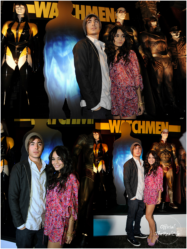 © Official-TheRealLife™  02/03/09  ※  Vanessa & Zac à l'after première du film Watchmen a Los Angeles.  _