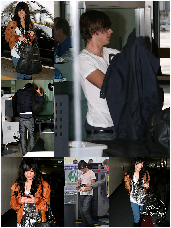 © Official-TheRealLife™  24/01/09  ※  Vanessa & Zac à L.A.X Airport de Los Angeles direction le Japon.  _