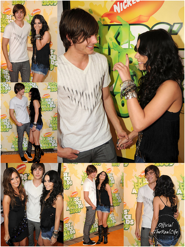 © Official-TheRealLife™  28/03/09  ※  Vanessa & Zac sur le orange carpet des Kid's Choice Award dans Los Angeles.  _