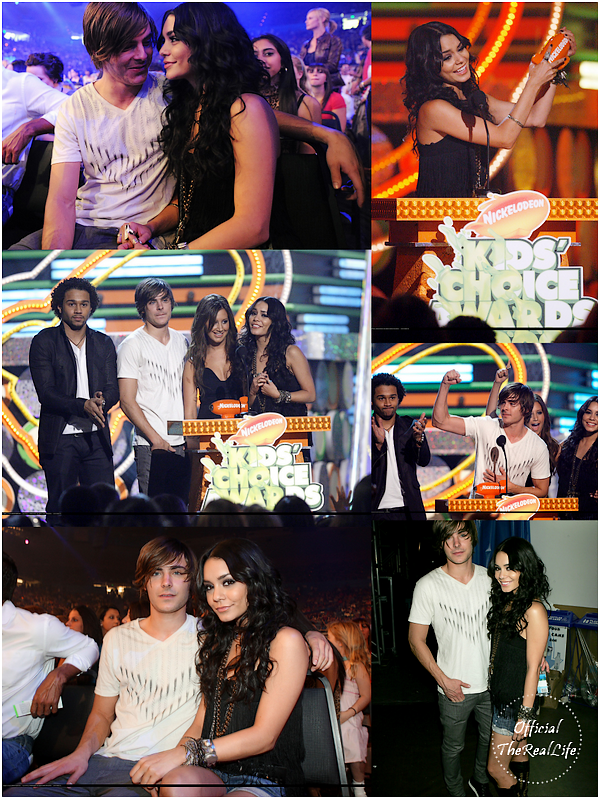 © Official-TheRealLife™  28/03/09  ※  Vanessa & Zac au Kid's Choice Award dans Los Angeles.  _