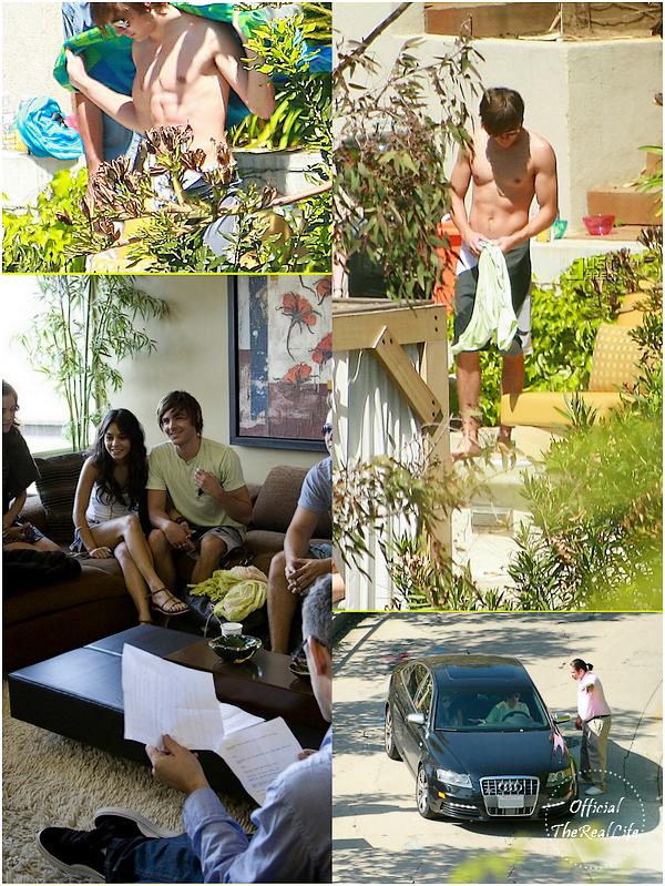 © Official-TheRealLife™  07/04/09  ※  Vanessa & Zac apperçue sur le tournage de l'épisode cours Funny Or Die.  _
