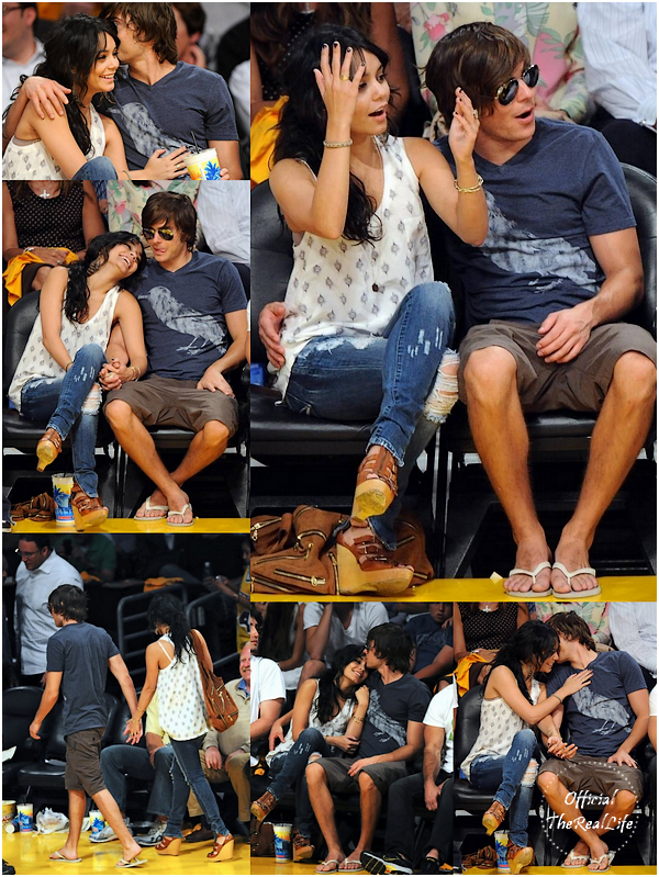 © Official-TheRealLife™  19/04/09  ※  Vanessa & Zac assistant au match des Lakers de Los Angeles.  _