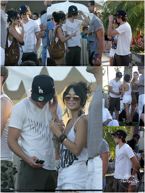 © Official-TheRealLife™  19/04/09  ※  Vanessa & Zac au festival Coachella à quelques kilomètre de Los Angeles.  _