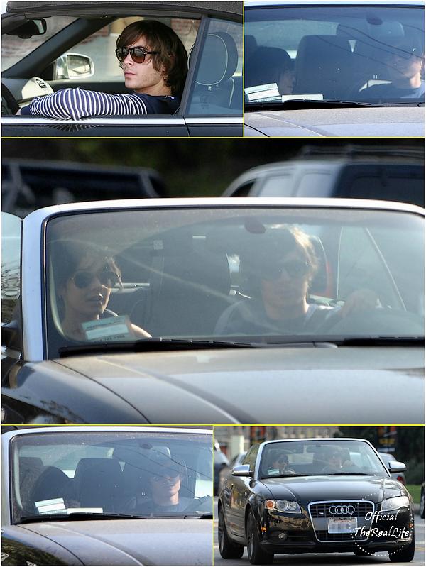 © Official-TheRealLife™  30/04/09  ※  Vanessa & Zac apperçue en voiture dans Los Anegles.  _