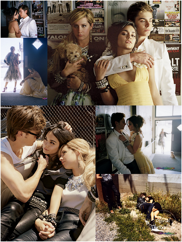 © Official-TheRealLife™  ??/05/09  ※  Photoshoot de Zac, Vanessa & Ashley pour le magazine ELLE.  _