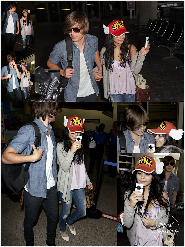 © Official-TheRealLife™  19/03/09  ※  Vanessa & Zac arrivant à L.A.X Airport de Los angeles.  _