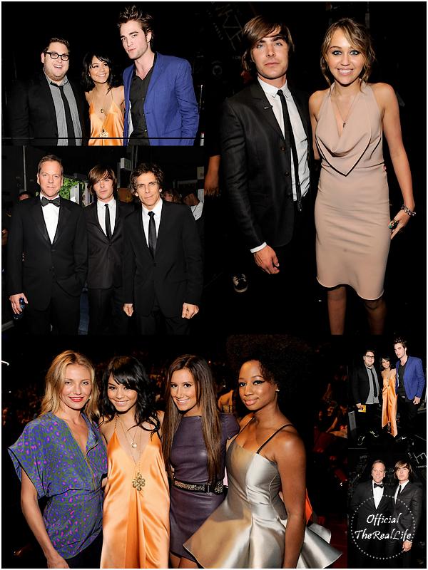 © Official-TheRealLife™  31/05/09  ※  Vanessa & Zac dans les backstages des MTV Movie Awards à Los Angeles.  _