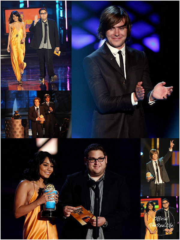 © Official-TheRealLife™  31/05/09  ※  Vanessa & Zac au MTV Movie Awards à Los Angeles.  _
