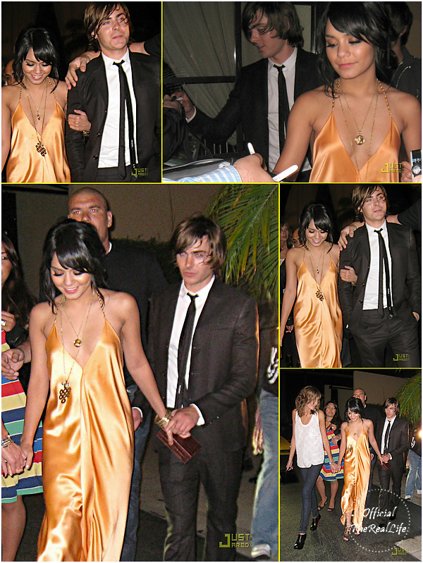 © Official-TheRealLife™  19/03/09  ※  Vanessa & Zac quittant l'after party des MTV Movie Awards 2009.  _