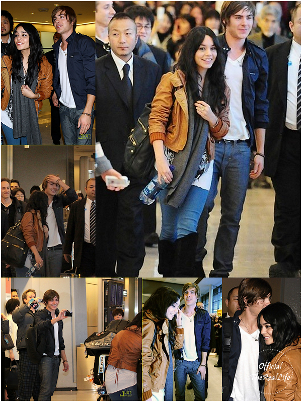 © Official-TheRealLife™  24/01/09  ※  Vanessa & Zac arrivant à l'Aéroport internationnal au Japon.  _