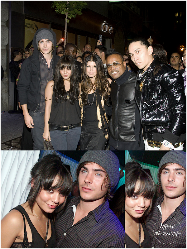 © Official-TheRealLife™  19/06/09  ※  Vanessa, Zac et The Black Eyed Peas au Trype HyperClub à Montréal, Canada.  _